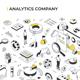 Analytics Company Isometric Illustration - GraphicRiver Item for Sale