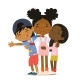 Happy African American Kids Hug - GraphicRiver Item for Sale