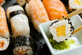 Slate tray of assorted sushi - PhotoDune Item for Sale