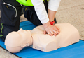 CPR training with dummy - PhotoDune Item for Sale