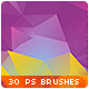 30 Low-Poly / Polygonal / Geometrical Photoshop Brushes #5 - GraphicRiver Item for Sale