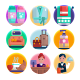 50 Hotel Icons - GraphicRiver Item for Sale