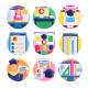 50 Online Education Icons - GraphicRiver Item for Sale