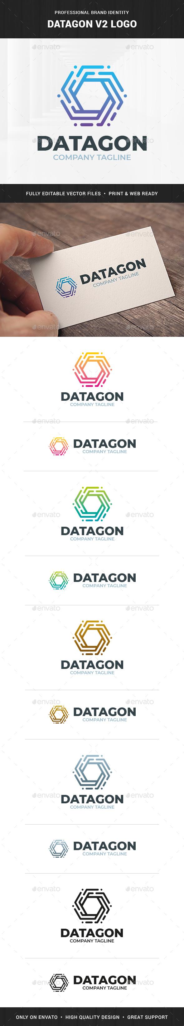 Datagon V2 Logo Template