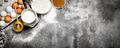 Baking background. Fresh ingredients for baking. - PhotoDune Item for Sale