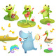 Pond or Swamp Animals Playing Music Clipart Set - GraphicRiver Item for Sale