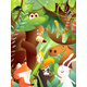 Wild Animals in the Forest Cute Greeting Card - GraphicRiver Item for Sale