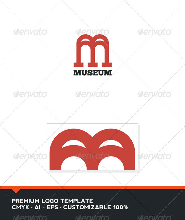 Museum - Letter M and W Logo Template