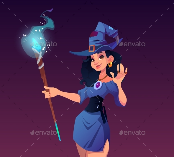 Witches Night Cartoon Poster Halloween Holiday