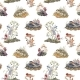 Seamless Forest Pattern with Cute - GraphicRiver Item for Sale