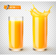 Vector Realistic Glasses of Fruit Juice - GraphicRiver Item for Sale