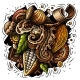 Chocolate Hand Drawn Vector Doodles Illustration - GraphicRiver Item for Sale