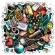 Medicine Cartoon Vector Doodle Design - GraphicRiver Item for Sale
