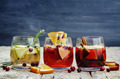 List of sangria with red, pink and white wine - PhotoDune Item for Sale
