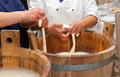 Production handmade craftsmanship of mozzarella - PhotoDune Item for Sale
