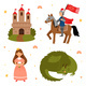 Vector Set of Fairy Tale Characters - GraphicRiver Item for Sale
