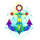 Rainbow Polygonal Anchor - GraphicRiver Item for Sale