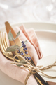Table Setting Details with Lavender. - PhotoDune Item for Sale