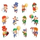 Isometric Clowns Characters Circus Party Fun - GraphicRiver Item for Sale