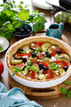 Vegetable tart with zucchini, aubergine, tomato, olives and feta cheese - PhotoDune Item for Sale