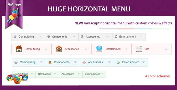 Javascript Huge Horizontal Menu