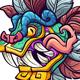 Quetzalcoatl Head - GraphicRiver Item for Sale