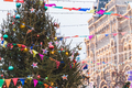Christmas City Fair in Moscow, a lot of bright decorations, lights, New Year's atmosphere - PhotoDune Item for Sale