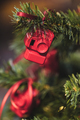 Christmas tree decorated with small figures of red photo cameras - PhotoDune Item for Sale
