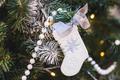 Handmade beautiful New Year decor on Christmas tree - PhotoDune Item for Sale
