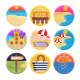 50 Beach Icons - GraphicRiver Item for Sale