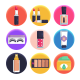 50 Cosmetics Icons - GraphicRiver Item for Sale