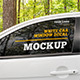 White Car Window Decal Mockup Set - GraphicRiver Item for Sale