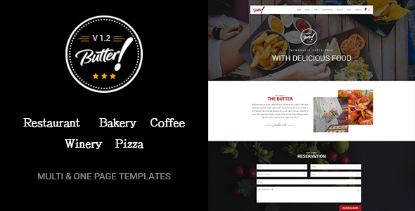 Butter - Professional Restaurant, Bakery, Coffee, Winery and Pizza WordPress Theme