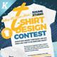 T-Shirt Design Contest Flyer Templates - GraphicRiver Item for Sale