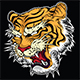 Tiger Angry Face Tattoo Vector Illustration 003 - GraphicRiver Item for Sale