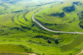 Above view of countryside road, aerial drone view - PhotoDune Item for Sale