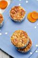 Greek yogurt oats dried apricots muffins - PhotoDune Item for Sale