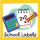 School Label Collection - GraphicRiver Item for Sale