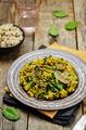Mushrooms spinach turmeric brown rice - PhotoDune Item for Sale