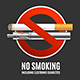 Realistic Detailed 3d No Smoking Concept. Vector - GraphicRiver Item for Sale