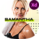 Samantha - Personal Fitness Trainer Template for Adobe XD - ThemeForest Item for Sale