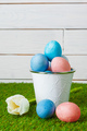 Easter Eggs with flower on Green Grass - PhotoDune Item for Sale