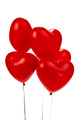 Air Balloons. Bunch of red heart shaped foil balloons - PhotoDune Item for Sale