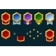 Constructor Award Badge for Game Resources Blank - GraphicRiver Item for Sale