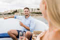 Young people having fun at luxury sail boat drinking champagne during vip summer vacations - PhotoDune Item for Sale