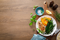 Grilled chicken breast with green beans and butternut squash, top view - PhotoDune Item for Sale