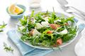 Salted salmon and arugula salad with fresh pineapple - PhotoDune Item for Sale