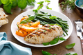 Grilled chicken breast with green beans and butternut squash - PhotoDune Item for Sale