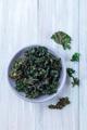 Easy three ingredient baked green kale chips - PhotoDune Item for Sale
