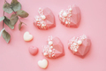 Pink heart-shaped cake. Gift for Valentine's Day and Women's Day - PhotoDune Item for Sale